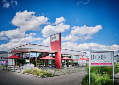 Außenansicht Landkauf Café & Feinkost, Eching